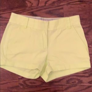 J crew Bright yellow Chino shorts